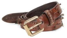 John Varvatos Roller Harness Leather Belt