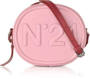 N°21 Pink Leather Oval Crossbody Bag w/Embossed Logo