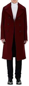 Calvin Klein Men's Wool-Silk Double-Breasted Coat