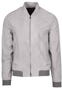 Herno Men's Grey Suede Outerwear Jacket.