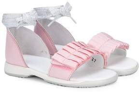 Hogan frilled sandals