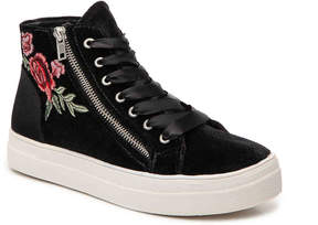 Bebe Valora Velvet High-Top Sneaker - Women's