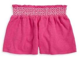 Flapdoodles Little Girl's Knitted Cotton Shorts