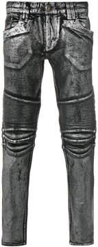 Philipp Plein biker skinny jeans