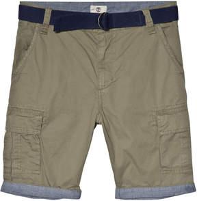 Timberland Kids Khaki Cargo Shorts with Belt