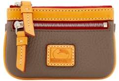 Dooney & Bourke Patterson Leather Small Coin Case - TAUPE - STYLE