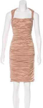 Nicole Miller Ruched Sleeveless Dress
