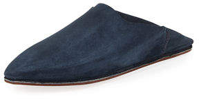 Neiman Marcus Brother Vellies Suede Babouche Flat Slide