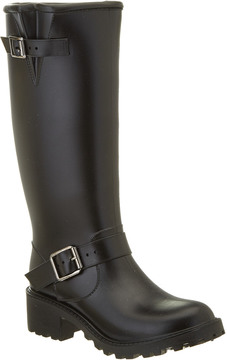 dav Women's Moto Tall Rain Boot
