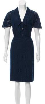 Cacharel Eyelet Knee-Length Dress w/ Tags