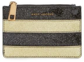 Marc Jacobs Women's Glitter Stripe Leather Wallet - Metallic - METALLIC - STYLE