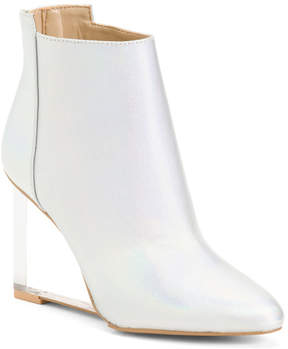Wedge Clear Heel Booties