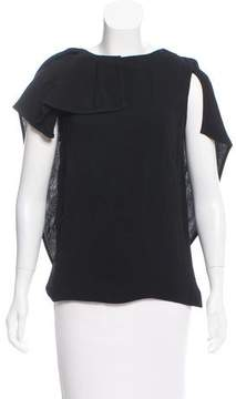 Antonio Berardi Cape-Accented Sleeveless Top