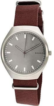 Skagen Men's SKW6386 Silver Canvas Japanese Quartz Fashion Watch