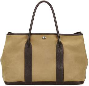 Hermes Garden Party cloth tote - BROWN - STYLE