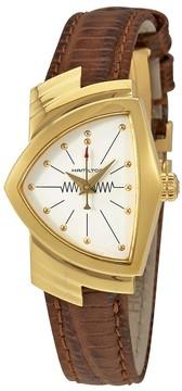 Hamilton Ventura White Dial Leather Ladies Watch