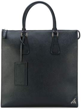 Prada structured zipped tote