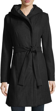 T Tahari Kourtney Belted Wrap Coat