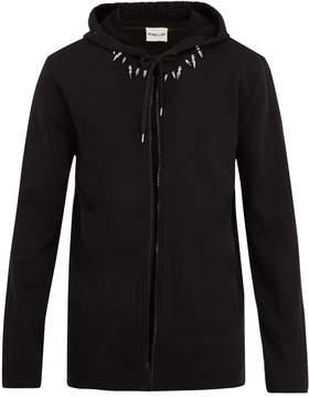 Helmut Lang Stud-collar 2003 hooded sweatshirt