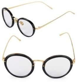 Linda Farrow 46MM Oval Sunglasses