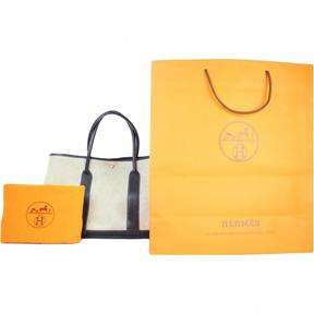Hermes Garden Party cloth tote - BLACK - STYLE
