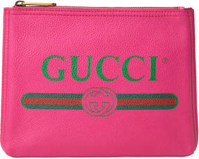 Gucci Print leather small portfolio - PINK LEATHER - STYLE
