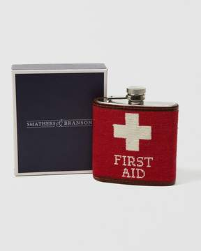 Abercrombie & Fitch Smathers & Branson First Aid Needlepoint Flask
