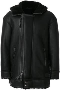Diesel Black Gold faux fur lined jacket