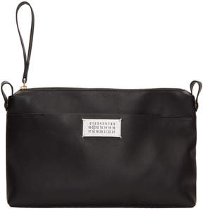 Maison Margiela Black Top Zip Pouch