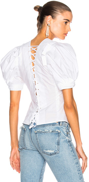 Brock Collection Takako Top in White.