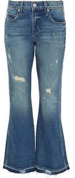 Amo Bex Distressed Mid-Rise Flared Jeans