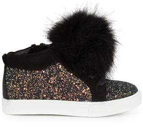 Sam Edelman Girls Bella Hira High Top Fur Sneaker