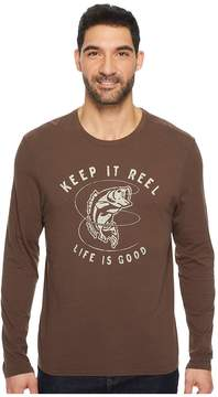 Life is Good Keep It Reel Bass Long Sleeve Smooth Tee Men's Short Sleeve Pullover