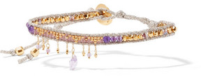 Chan Luu Gold-plated, Amethyst And Beaded Bracelet - Silver