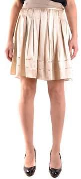 See by Chloe Women's Beige Silk Skirt.