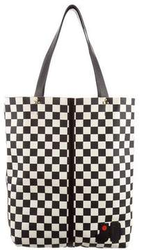 Jerome Dreyfuss Leather Checker Tote w/ Tags