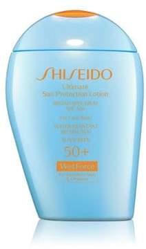 Shiseido Ultimate Sun Protection Lotion WetForce for Sensitive Skin & Children Broad Spectrum SPF 50+/3.3 oz.