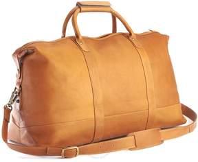 Royce Leather Royce Tan Colombian Leather Weekender Duffel Bag