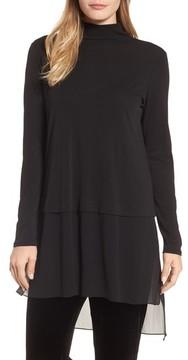 Eileen Fisher Women's Sheer Hem Silk Tunic