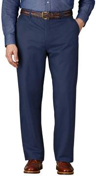 Charles Tyrwhitt Blue Classic Fit Flat Front Weekend Cotton Chino Pants Size W34 L32