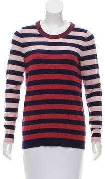 White + Warren Striped Knit Sweater