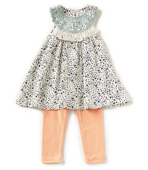 Jessica Simpson Baby Girls 12-24 Months Printed Tank Top & Solid Leggings Set
