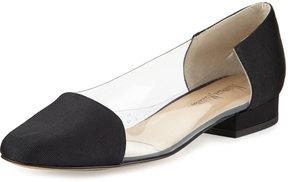 Neiman Marcus Frances Grain Illusion Flat, Black