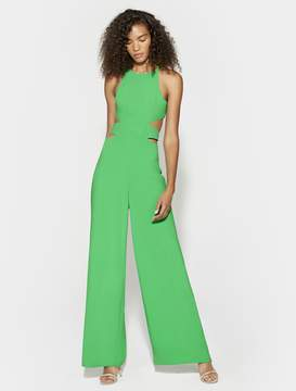 Halston SLEEVELESS SIDE CUT OUT WIDE LEG JUMPSUIT