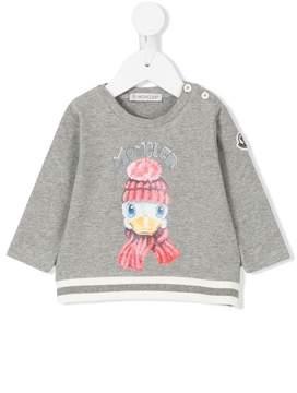 Moncler duck print sweatshirt