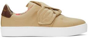 Burberry Beige Westford Knot Slip-On Sneakers
