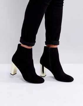 Miss KG Gold Heel Boots
