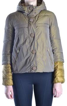 Geospirit Women's Grey/gold Polyamide Down Jacket.