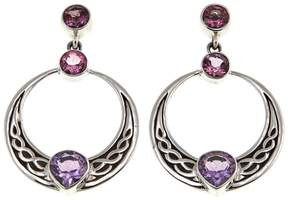 Celtic Nicky Butler Collection Pink Topaz and Amethyst Dangle Earrings