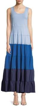 Context Colorblock Tiered Dress